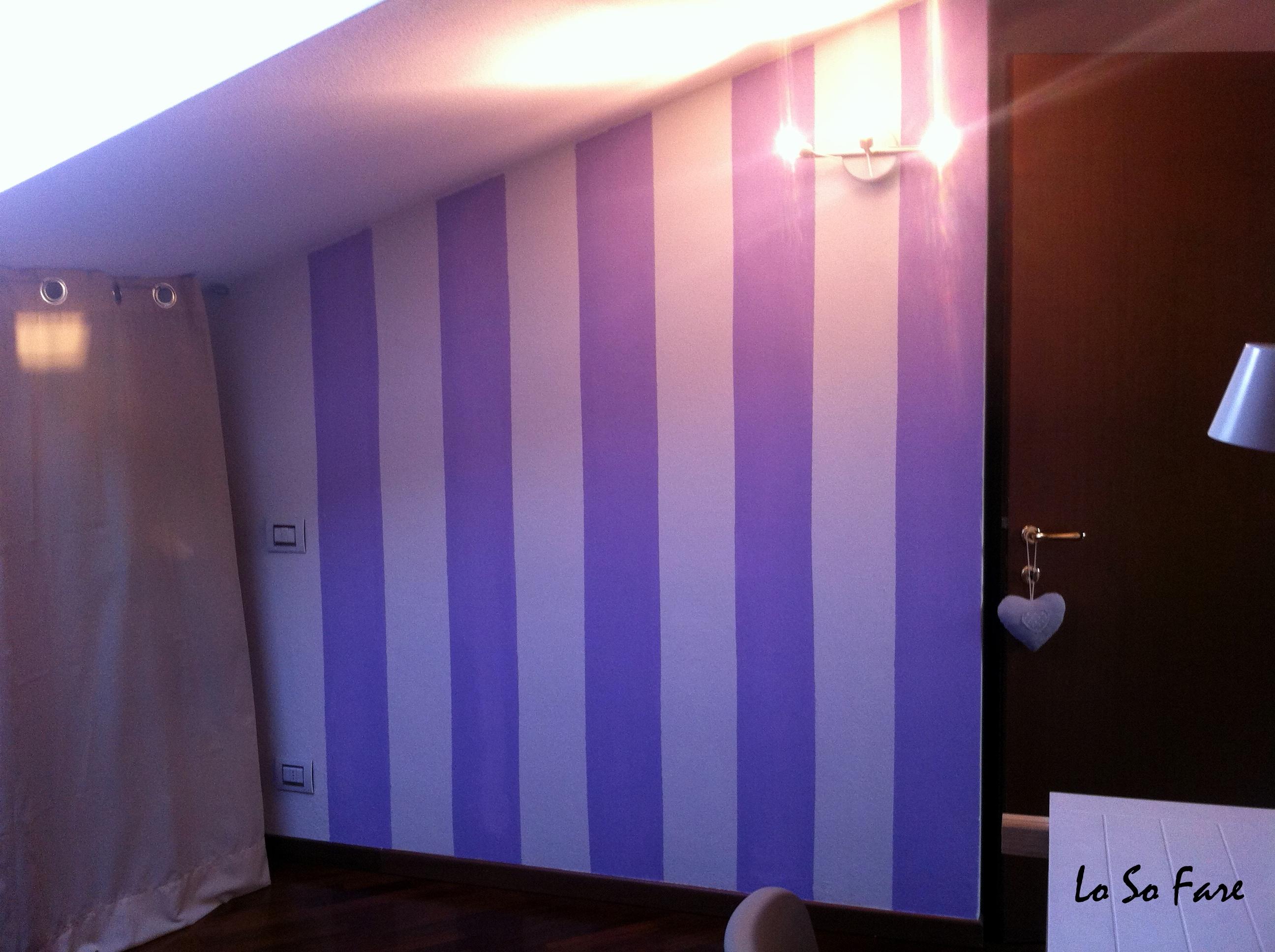 Le pitture migliori per le pareti di una camera da letto. Colore Righe E Stancil Losofare