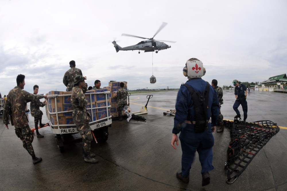 U.S. Navy relief efforts for Typhoon Fengshen