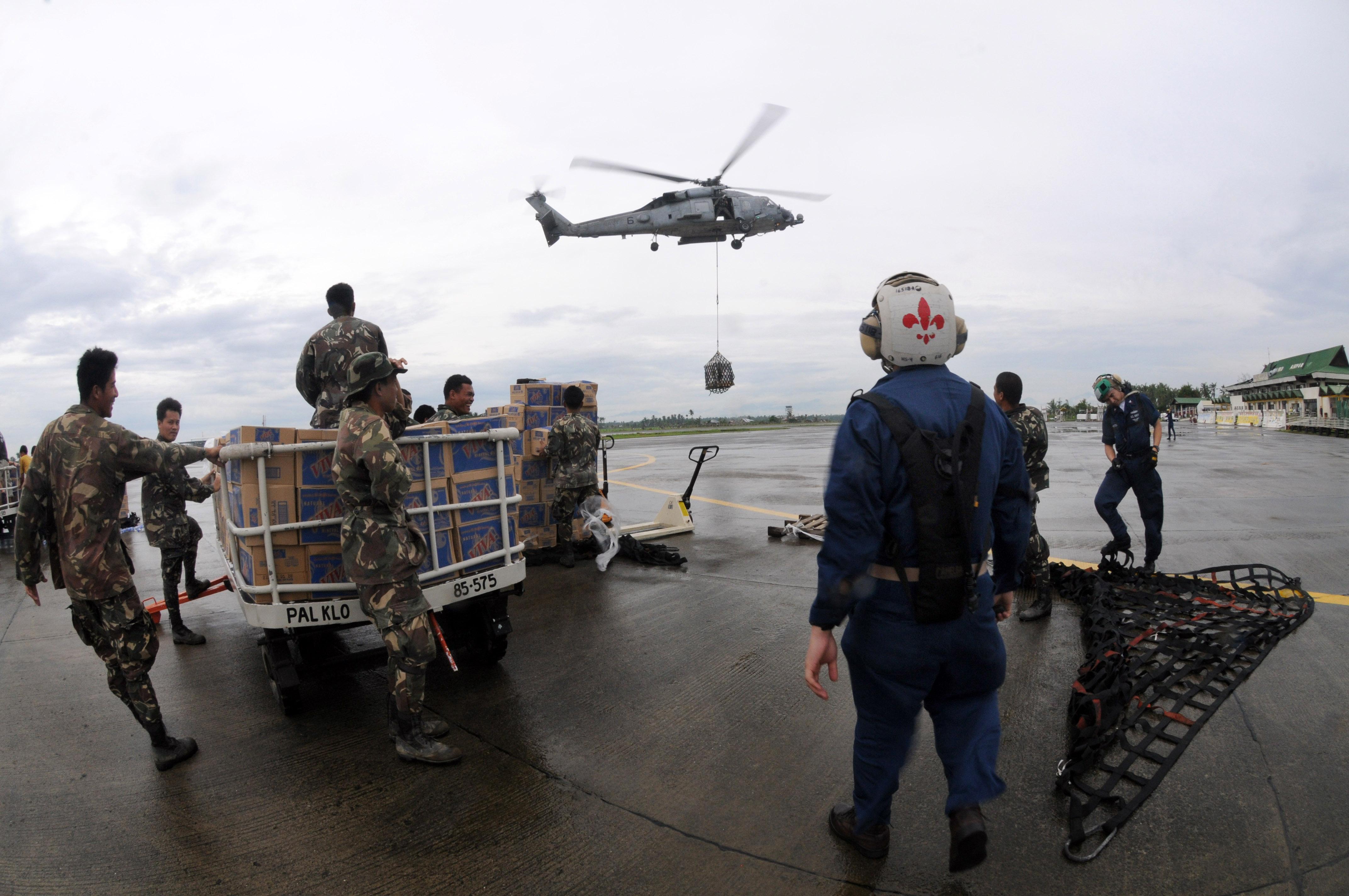 U.S. Navy relief efforts for Typhoon Fengshen