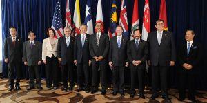 Una foto dei leader del tpp, il Trans-Pacific Strategic Economic Partnership Agreement