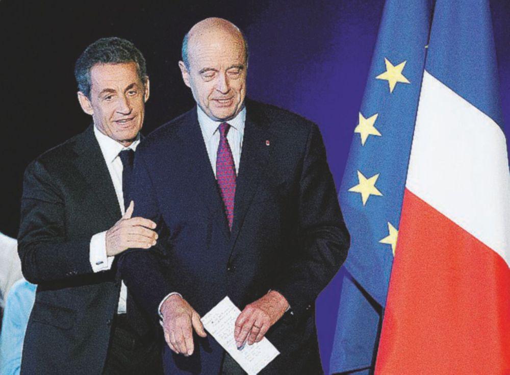Nicolas Sarkozy al meeting di Juppe a Bordeaux