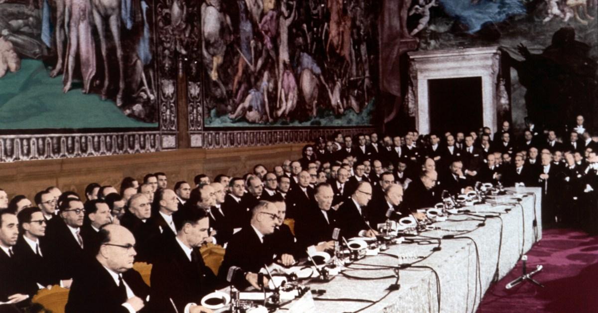 Firma dei trattati di Roma, 1957