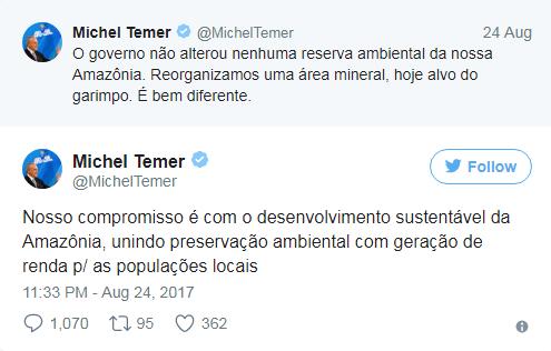 Tweets Temer