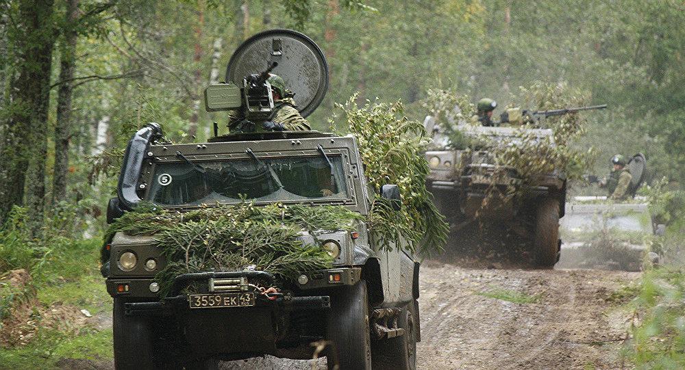 Truppe russe durante Zapad 2017