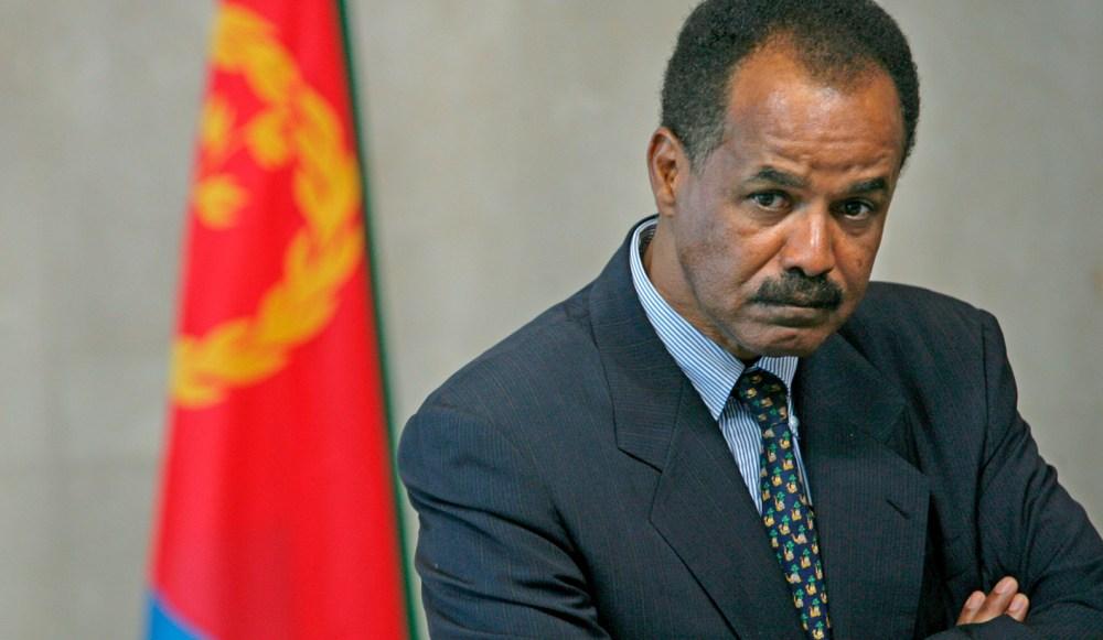 President of Eritrea Issayas Afewerki in Brussels