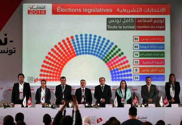 Nidaa Tounes party wins Tunisia parliamentary elections