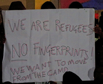 we are refugees not fingerprints