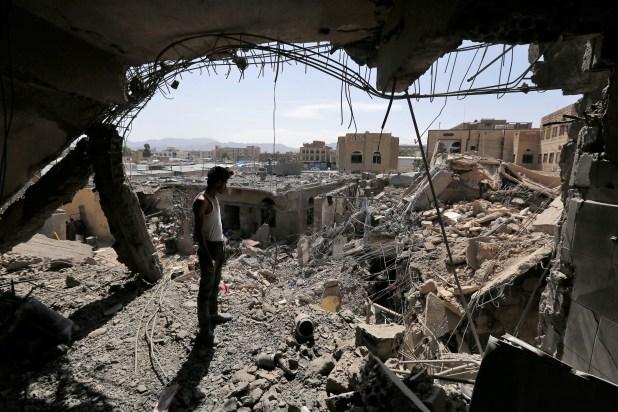 Coalition airstrikes target a neighborhood in Sana'a