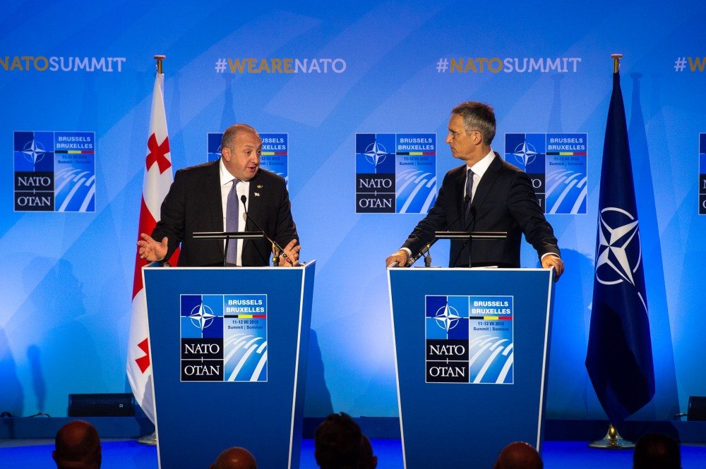 NATO Summit Brussels 2018 - Joint Statement by NATO Secretary General and the President of Georgia