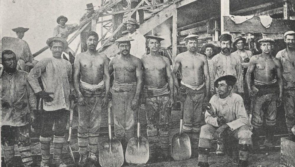 Mineros de salitre en Chile