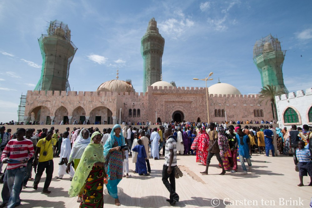 At the Grand Mosque of Touba