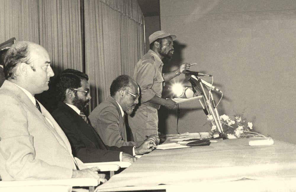 Samora Machel e Marcelino Dos Santos