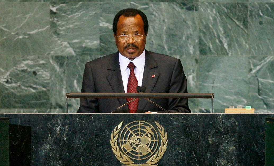 Il presidente del Camerun Paul Biya
