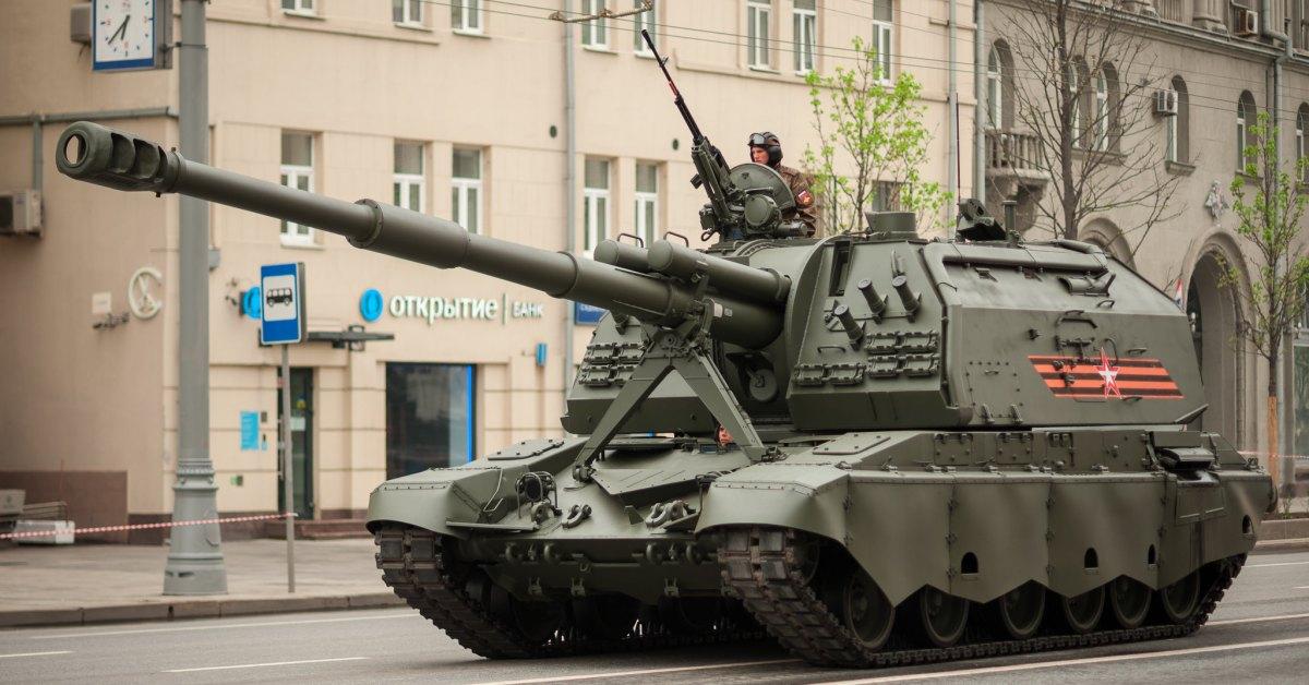 Un carro armato a Kaliningrad