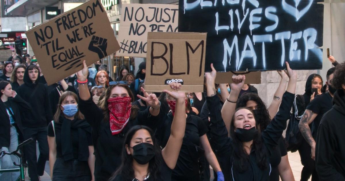 Manifestazione Black Lives Matter a Stoccoma