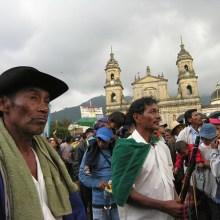 Minga indigena in Colombia