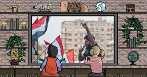 Una manifestazione durante la Primavera araba in Egitto
