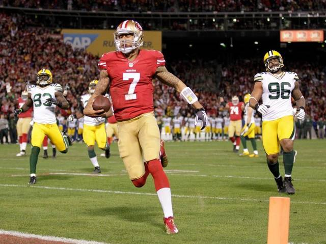 Kaepernick Green Bay 49ers Preseason