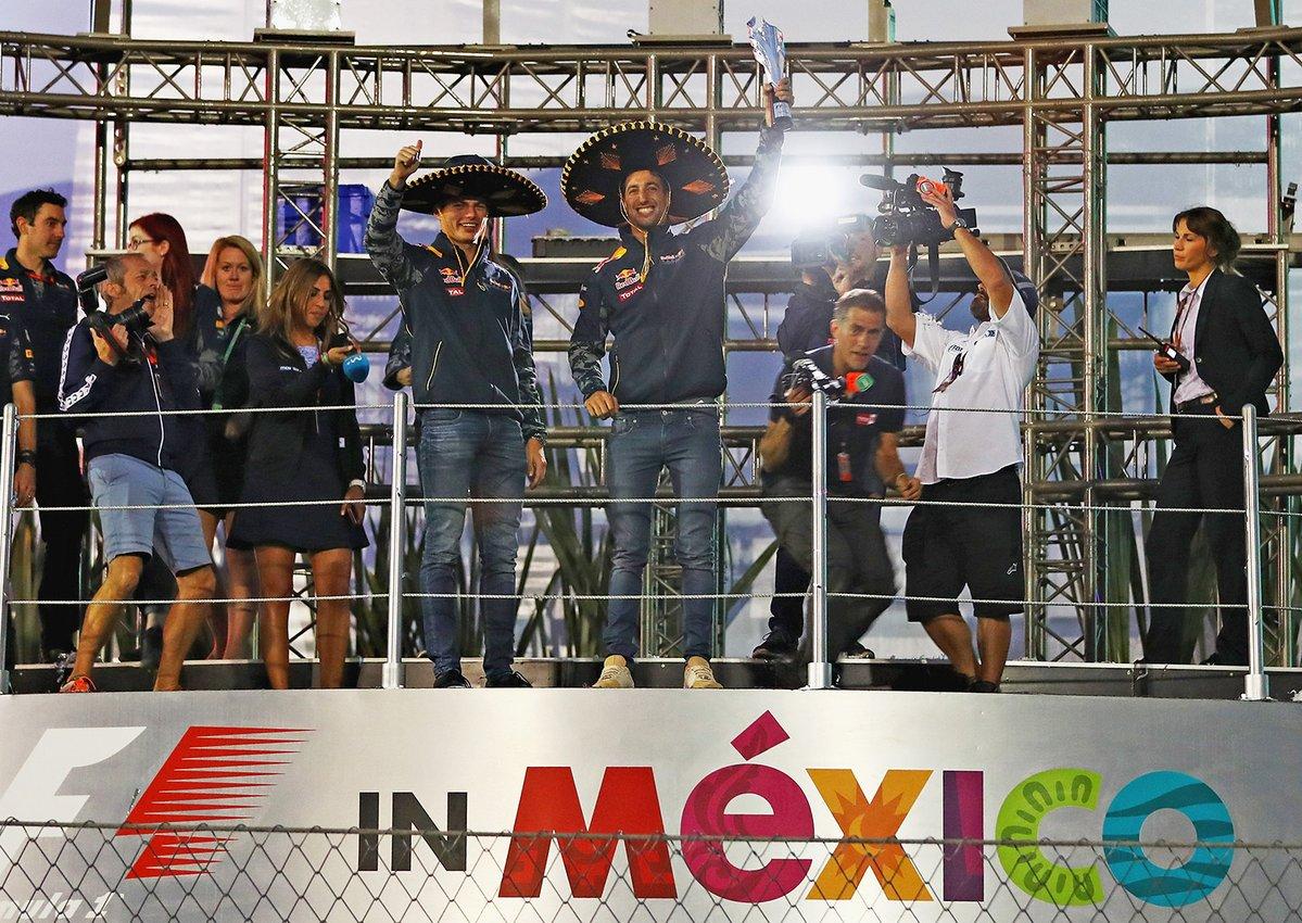 Verstappen, Daniel Ricciardo, GP México