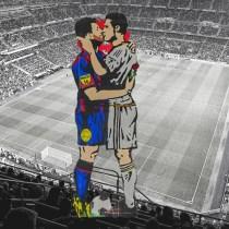TVBoy arte Clásico Barcelona Messi Cristiano Beso Arte