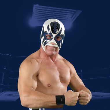 Máscara trofeo luchador cabellera carrera