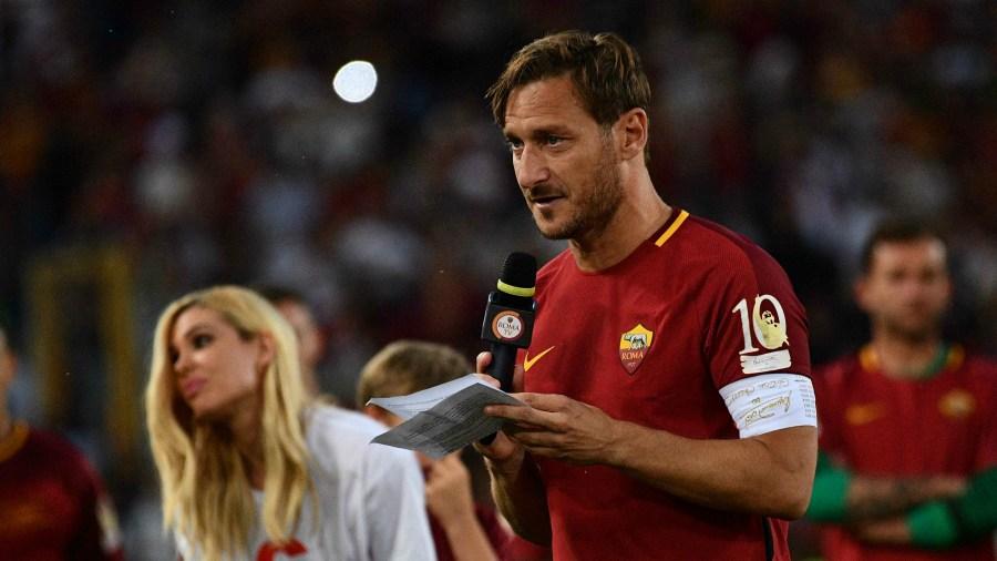 Francesco Totti Roma Nuevo Trabajo Apoyo