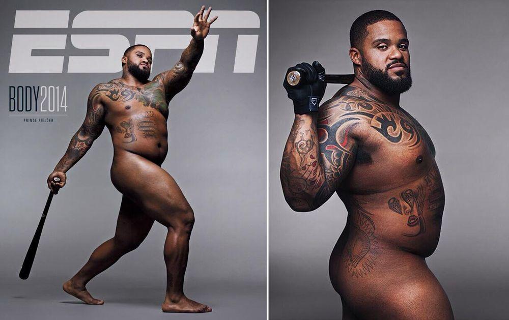 Prince Fielder, ESPN, Body Issue, MLB, Rangers, Texas, desnudo, posando, sin ropa, sobrepeso, críticas, beisbol