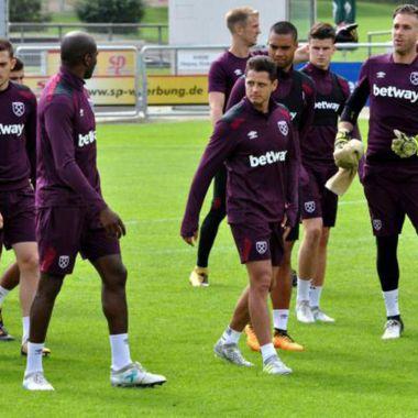 Chicharito, West Ham, golazo, entrenamiento, volea, número, 17