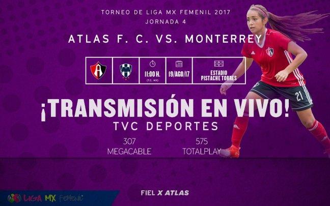 TVC Deportes, Atlas, femenil, transmisión en vivo, rojinegras, Liga MX femenil, acuerdo, televisora