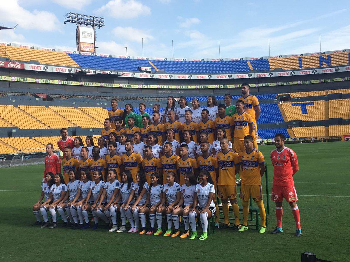Tigres foto oficial mixta femenil varonil Apertura 2017
