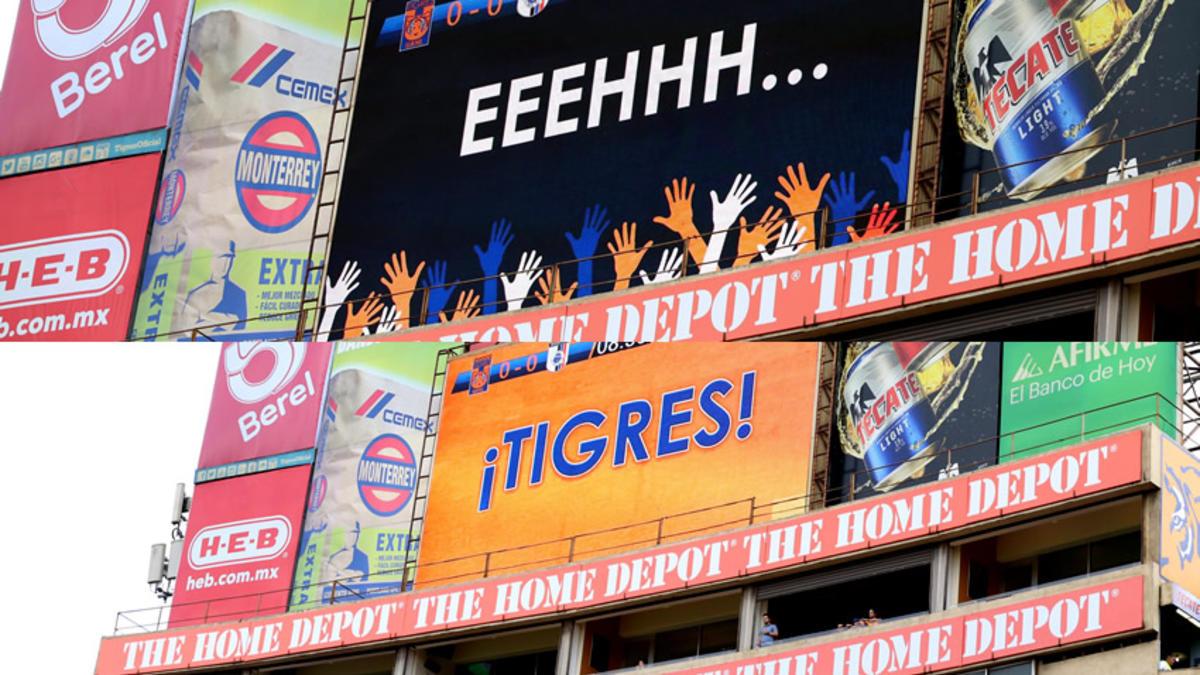 Tigres, restaura escuela, erradica el grito, eeeeh puto, afición, estadio universitario, primaria, David Colunga Galicia, otra escuela, repetir el acto