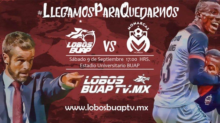 Lobos BUAP, Monarcas Morelia, Liga MX, transmisión internet, futbol mexicano, Chivas TV