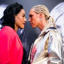 Beso boxeadora Braekhus Noruega beso en la boca
