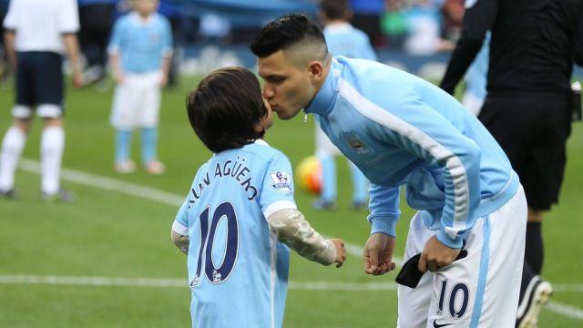 "Playera, Sergio ""Kun"" Agüero, récord, goles, Manchester City, hijo, nieto, Maradona"