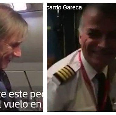 Piloto, hace homenaje, Ricardo Gareca, en pleno vuelo, entrenador, Selección de perú, llevar al equipo, Mundial, Rusia 2018