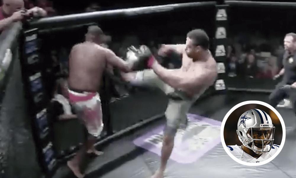 NFL MMA Greg Hardy video Dallas Cowboys American KombatAlliance