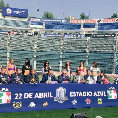 Estadio Azul, futbol americano, LFA, Tazón México III, Tercera temporada, Liga de Futbol Americano Profesional de Mexicano, presidente, Oscar Pérez Martínez, confirmó partido, final