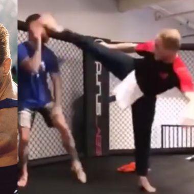 Van Damme UFC video Garbrandt patada MMA Dillashaw
