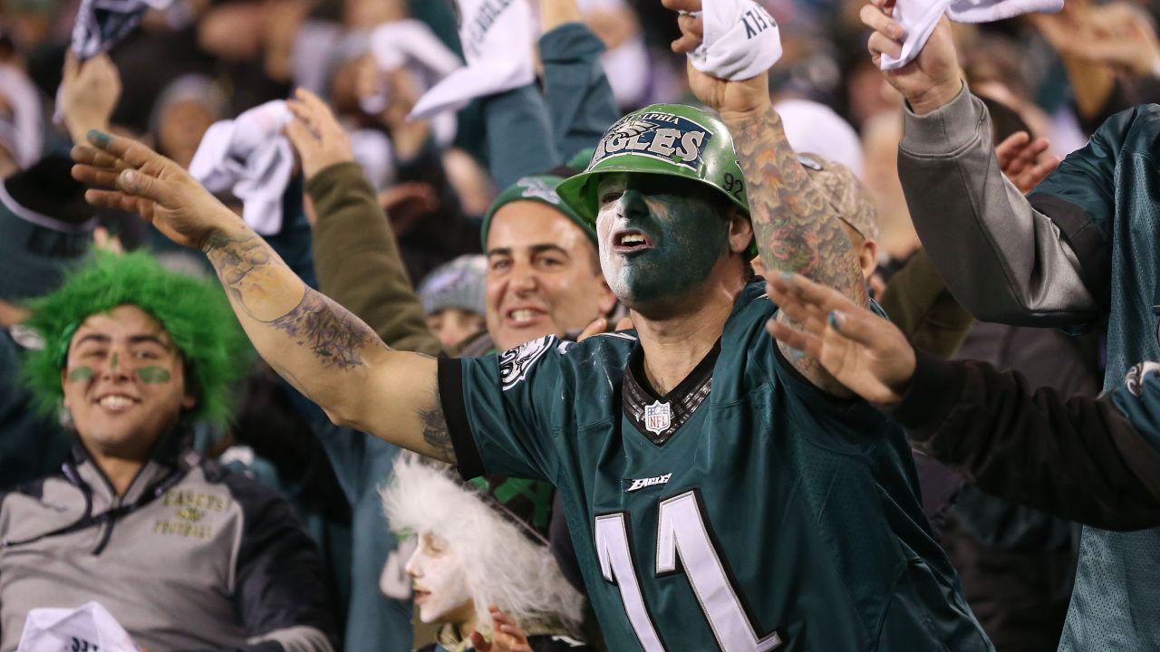 Seis, arrestos, aficionados, Philadelphia, Eagles, NFL, final, Conferencia norte, pase, Super Bowl LII, festejos, seguidores