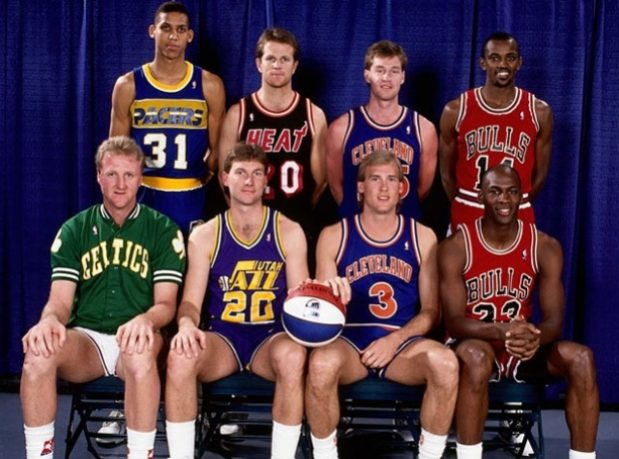 Michael Jordan 1990 Tiros Triples