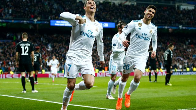Real Madrid Champions League PSG Goles Octavos Final.