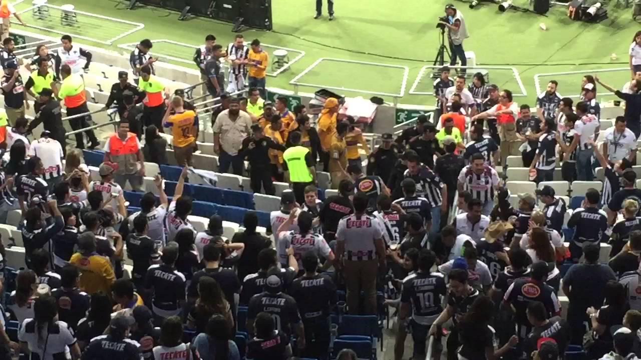 Aficionados Tigres Monterrey Pelea Santos TSM