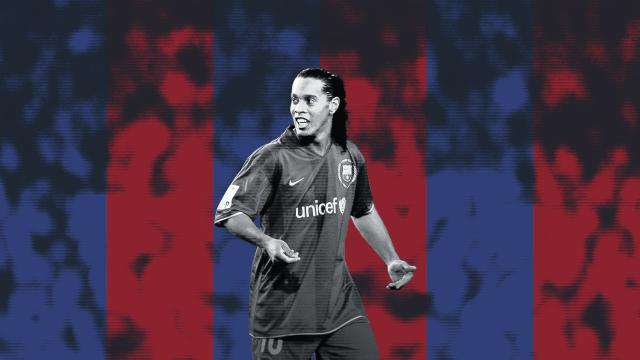 Ronaldinho, Barcelona, Gifs, Jugadas