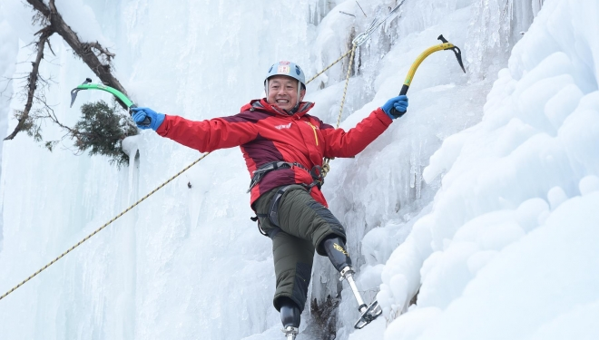 Adulto mayor prótesis buscará conquistar Everest