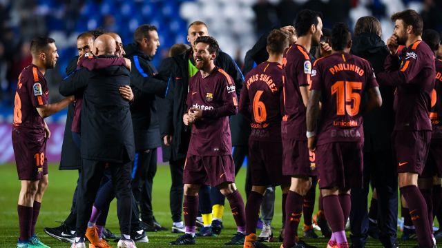 Barcelona Campeón de La Liga con Goles de Messi