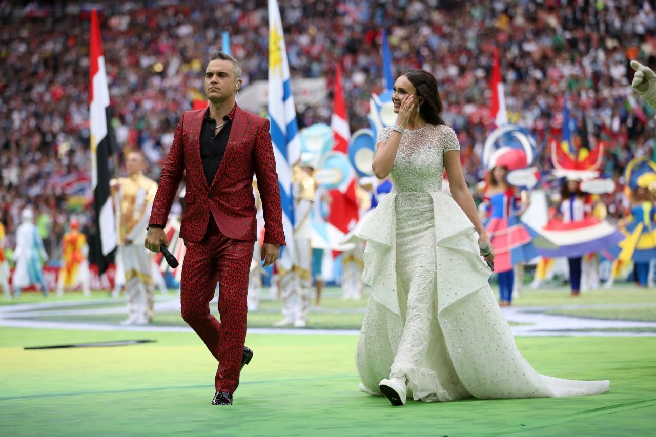 Aida Garifullina Robbie Williams Inauguración Mundial Rusia 2018