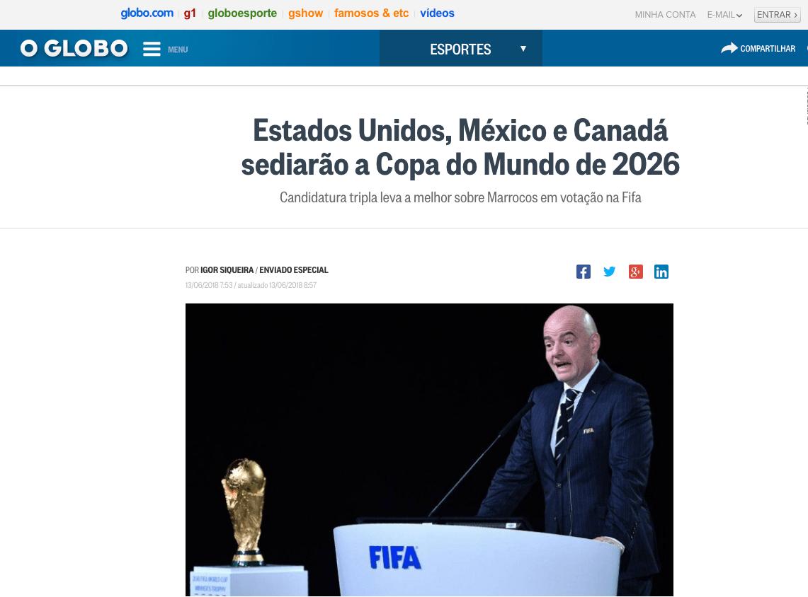 Así reaccionó el mundo a la designación de México como sede para el Mundial