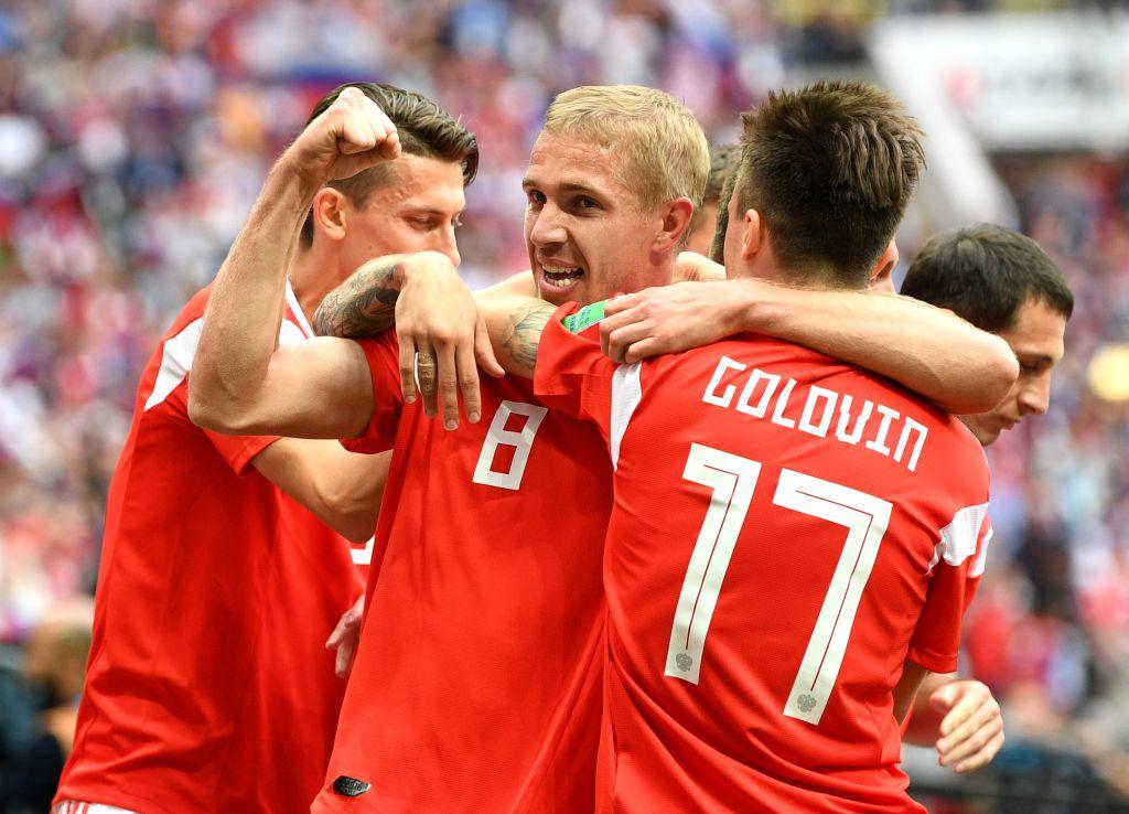 Primer Gol Mundial Rusia 2018 Yuri Gazinski Rusia vs Arabia Saudita