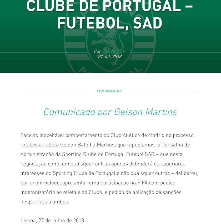 Gelson Martins, Atlético de Madrid, Sporting Lisboa, FIFA