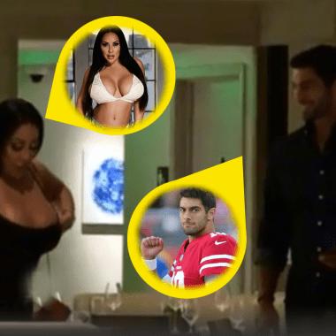 """Quarterback de la NFL impulsa carrera de actriz porno con """"cita"""""""